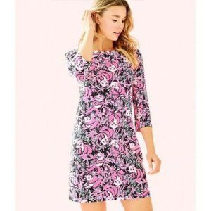 LILLY PULITZER Dress Bay Hibiscus Pink Sz Small